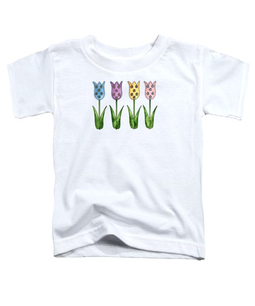 Tulip Row Toddler T-Shirt by Shelley Wallace Ylst