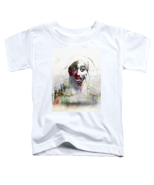Tupac Graffitti 2656 Toddler T-Shirt by Jani Heinonen