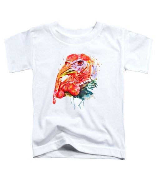 Turkey Head Toddler T-Shirt by Marian Voicu