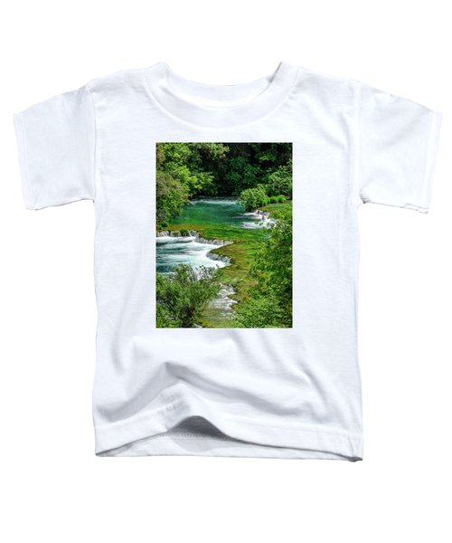Turqouise Waterfalls Of Skradinski Buk At Krka National Park In Croatia Toddler T-Shirt