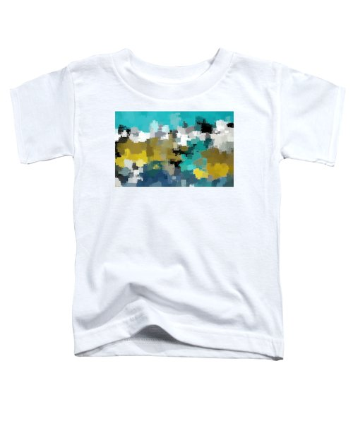 Turquoise And Gold Toddler T-Shirt
