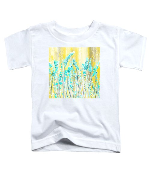 Turquoise And Yellow Toddler T-Shirt