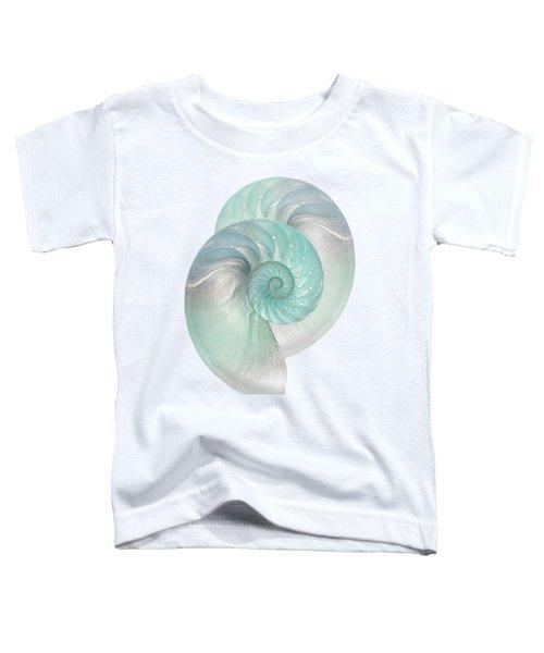 Turquoise Nautilus Pair Toddler T-Shirt