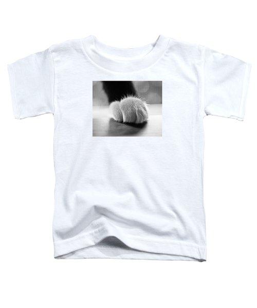 Tuxedo Cat Paw Black And White Toddler T-Shirt
