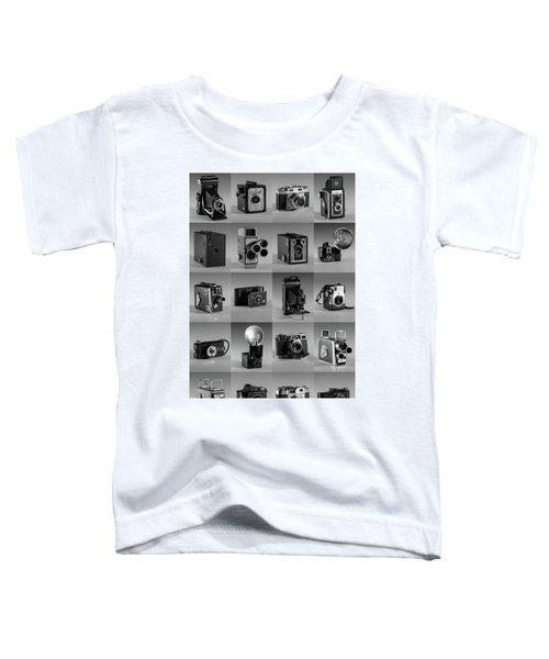 Twenty Old Cameras - Black And White Toddler T-Shirt