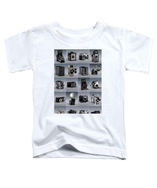 Twenty Old Cameras - Color Toddler T-Shirt