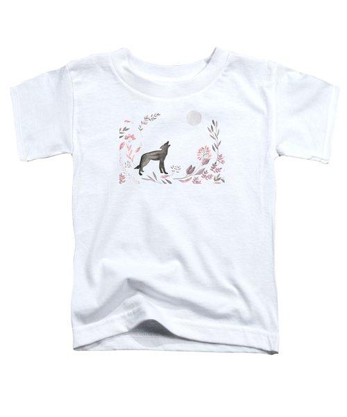 Twilight Wolf Toddler T-Shirt by Amanda Lakey