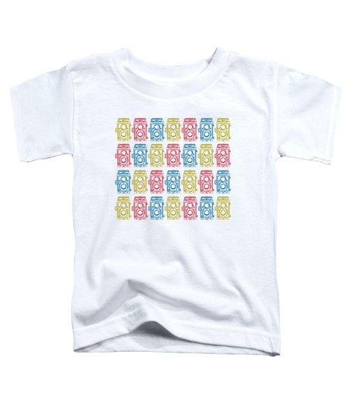 Twin Lens Camera Pattern Toddler T-Shirt