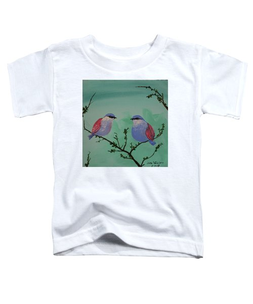 Two Chickadees Toddler T-Shirt