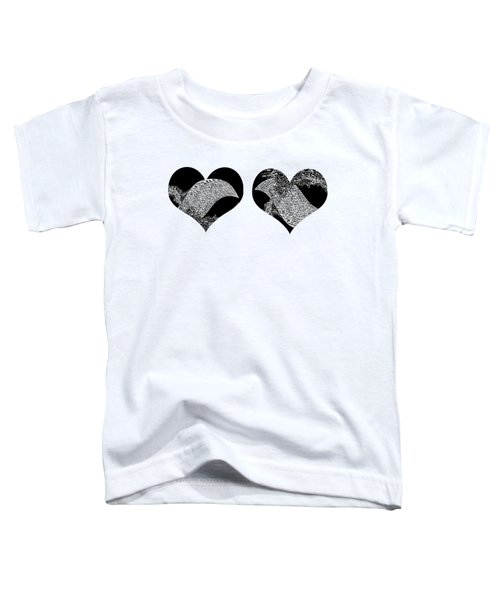 Two Dolphin Hearts Swimming Toddler T-Shirt
