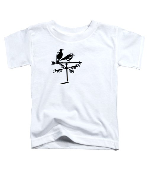 Two Magpies Toddler T-Shirt by India Rattray