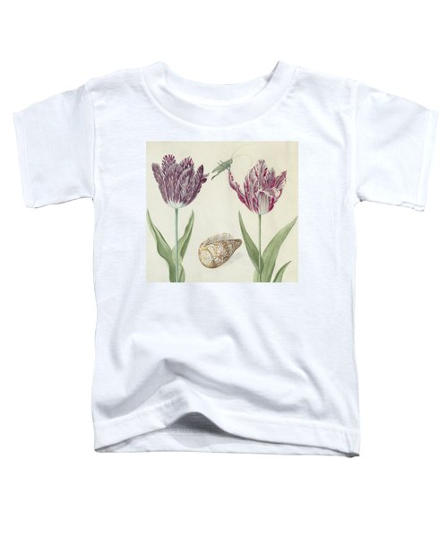 Two Tulips A Shell And A Grasshopper Toddler T-Shirt