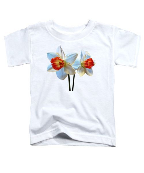 Two White And Orange Daffodils Toddler T-Shirt