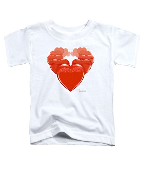 Two Hearts Become One Toddler T-Shirt