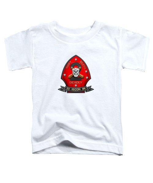 U S M C  2nd Reconnaissance Battalion -  2nd Recon Bn Insignia Over White Leather Toddler T-Shirt
