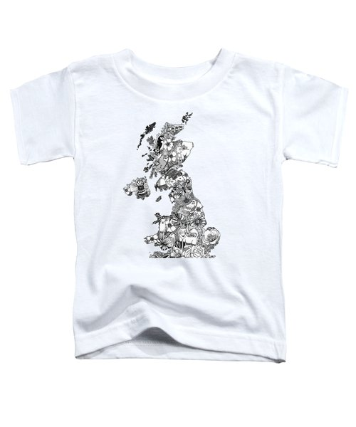 Uk Map Toddler T-Shirt by Hannah Edge