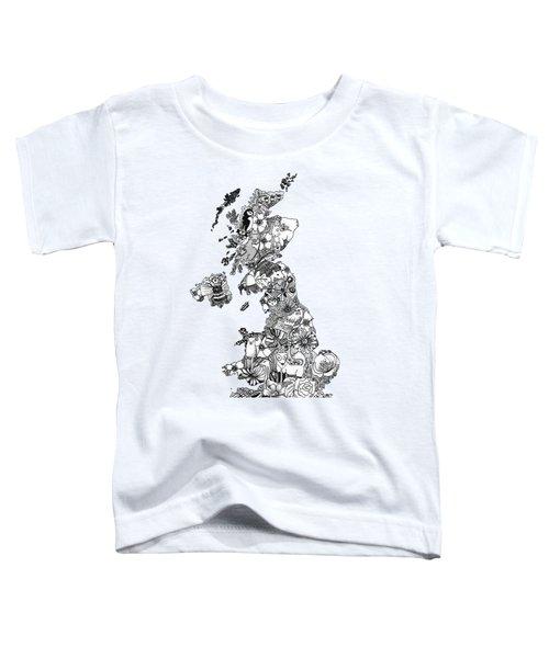 Uk Map Toddler T-Shirt