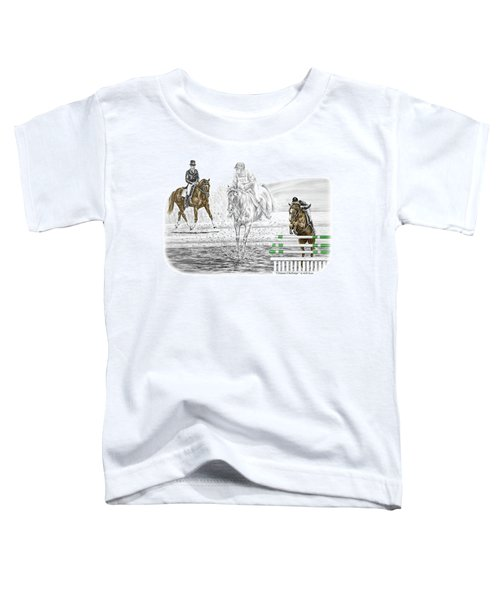Ultimate Challenge - Horse Eventing Print Color Tinted Toddler T-Shirt