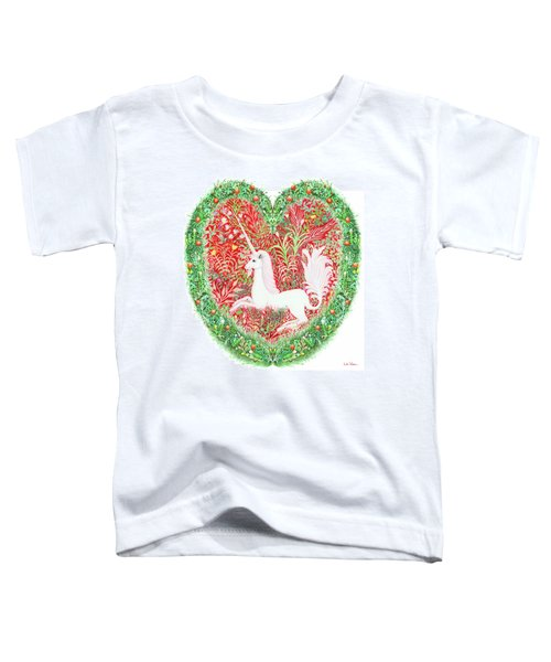 Unicorn Heart With Millefleurs Toddler T-Shirt