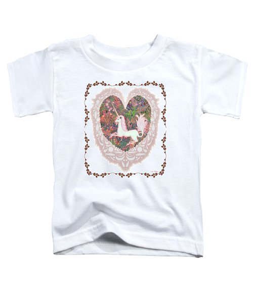 Unicorn In A Pink Heart Toddler T-Shirt