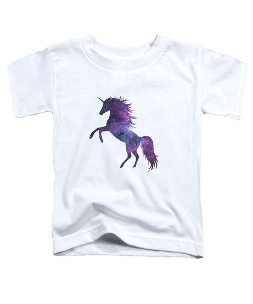 Unicorn In Space-transparent Background Toddler T-Shirt
