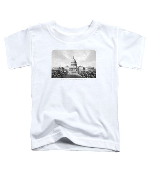 Us Capitol Building - Washington Dc Toddler T-Shirt by War Is Hell Store