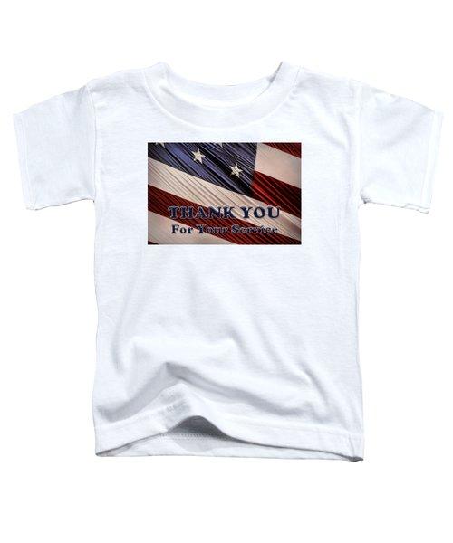 Usa Military Veterans Patriotic Flag Thank You Toddler T-Shirt