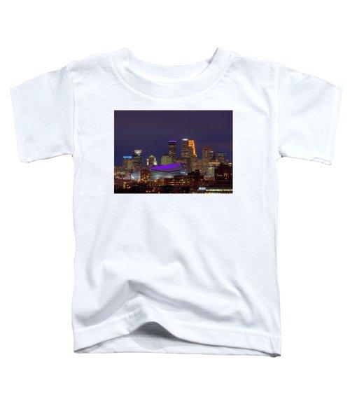 Usbank Stadium Dressed In Purple Toddler T-Shirt