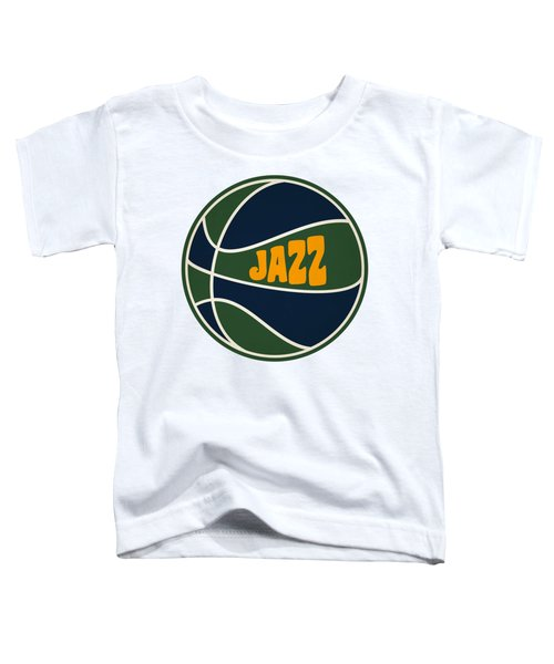 Utah Jazz Retro Shirt Toddler T-Shirt by Joe Hamilton