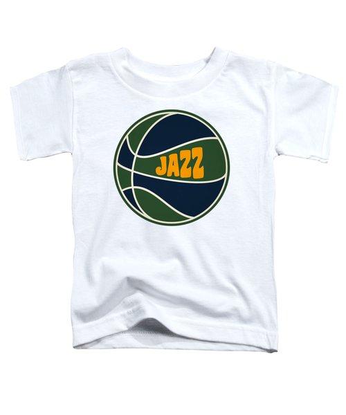 Utah Jazz Retro Shirt Toddler T-Shirt by Joe Hamilton