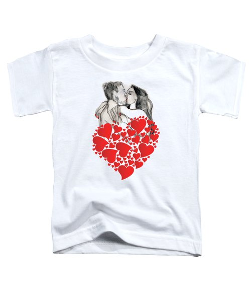 Valentine's Kiss - Valentine's Day Toddler T-Shirt