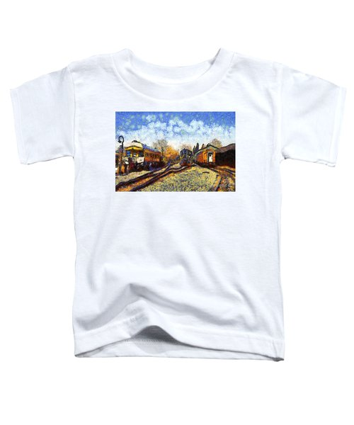 Van Gogh.s Train Station 7d11513 Toddler T-Shirt