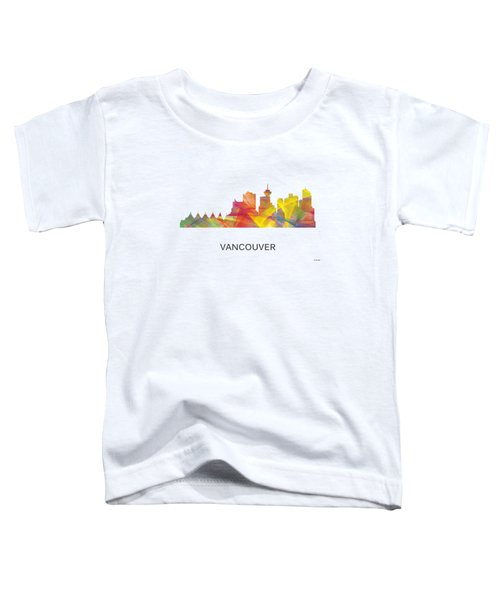 Vancouver B.c. Skyline Toddler T-Shirt
