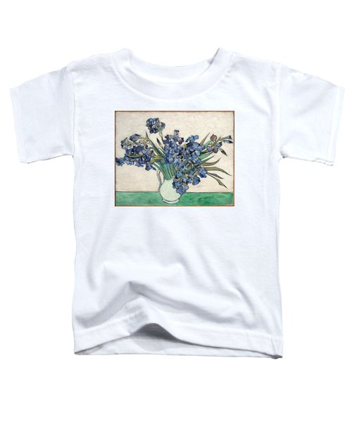 Toddler T-Shirt featuring the painting Vase With Irises by Van Gogh