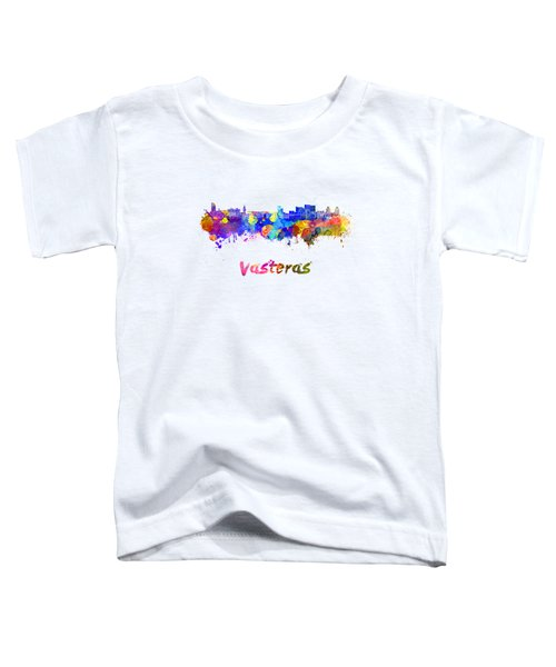 Vasteras Skyline In Watercolor Toddler T-Shirt