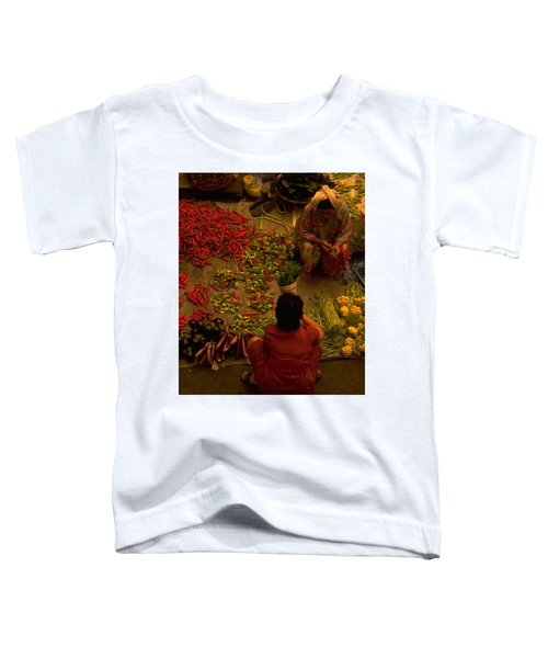 Toddler T-Shirt featuring the photograph Vegetable Market In Malaysia by Travel Pics