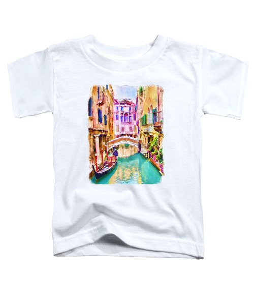 Venice Canal 2 Toddler T-Shirt by Marian Voicu