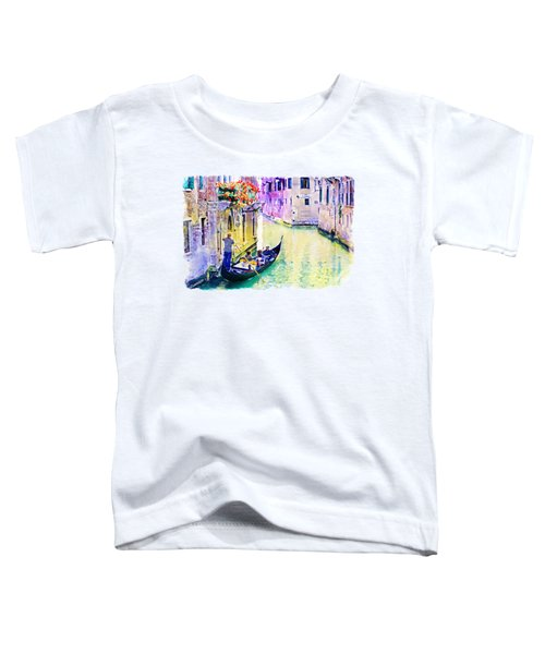 Venice Canal Toddler T-Shirt by Marian Voicu
