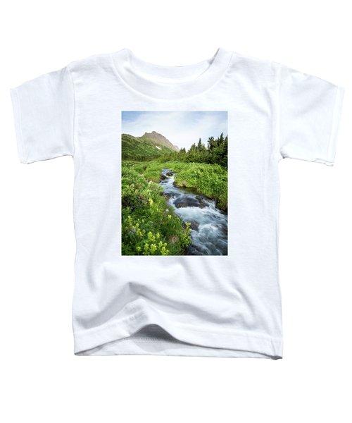 Verdant Mountain Stream Toddler T-Shirt