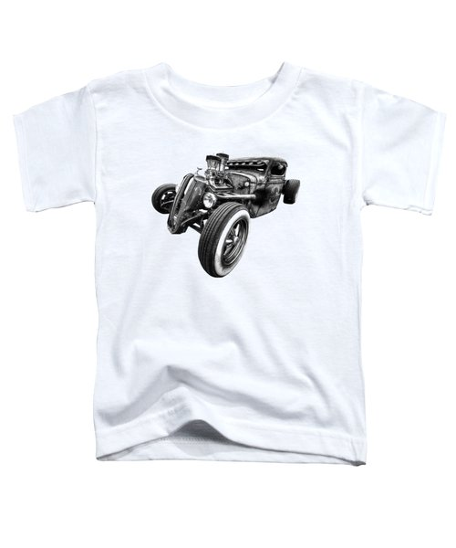Vermin's Diner Rat Rod Front In Black And White Toddler T-Shirt