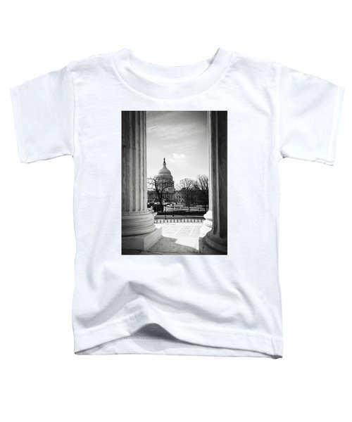 View Of Capitol Hill Through The Supreme Court Toddler T-Shirt