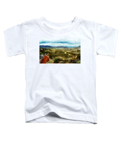 View Of Vail Lake On Horseback Toddler T-Shirt