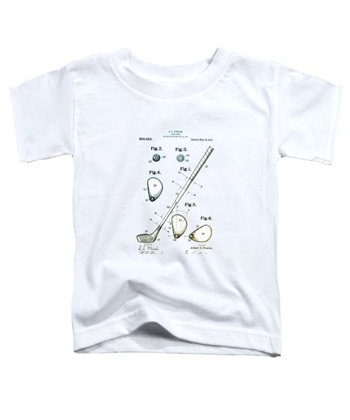 Vintage 1910 Golf Club Patent Toddler T-Shirt by Bill Cannon