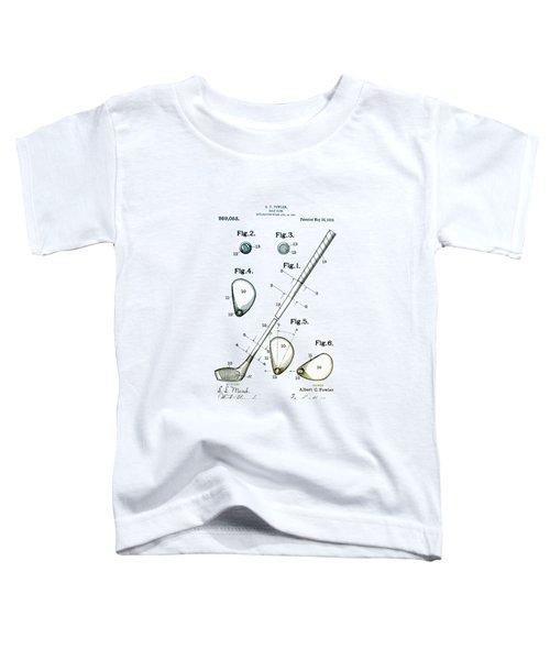 Vintage 1910 Golf Club Patent Toddler T-Shirt