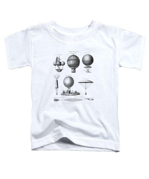 Vintage Aeronautics - Early Balloon Designs Toddler T-Shirt