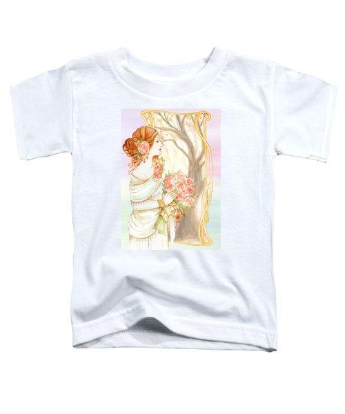 Vintage Art Nouveau Flower Lady Toddler T-Shirt