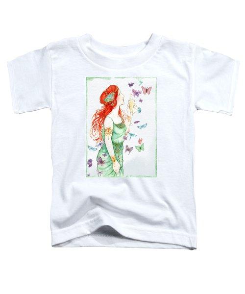 Vintage Art Nouveau Lady Party Time Toddler T-Shirt