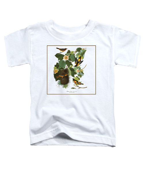 Toddler T-Shirt featuring the digital art Vintage Baltimore Orioles Audubon  by Joy McKenzie