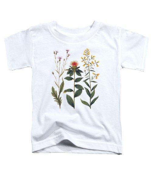 Vintage Botanical Wildflowers Toddler T-Shirt