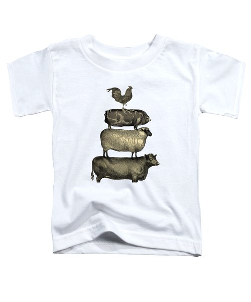 Vintage Farm Animals Tee Toddler T-Shirt